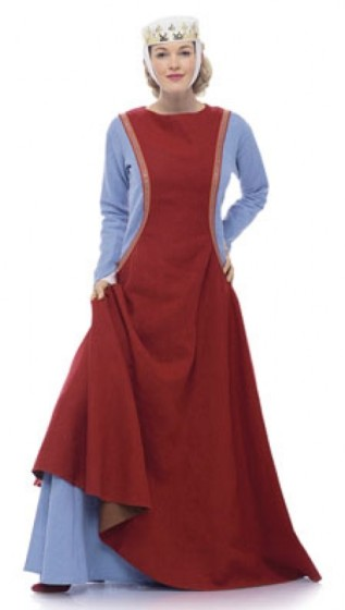 A kirtle from a modern pattern by Burda.